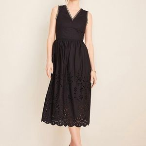 NWT, Ann Taylor black eyelet trim dress, SZ 12